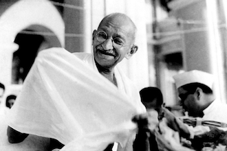 The Mantle Image Gandhi Laughing