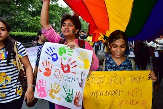The Mantle Image LGBTQ Protest Kolkata