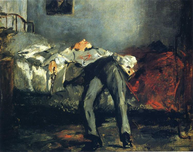 The Suicide by Manet The Mantle image