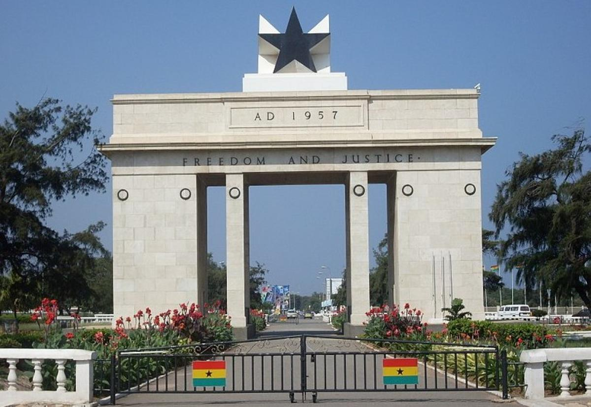 Mantle Image Independence Arch Ghana