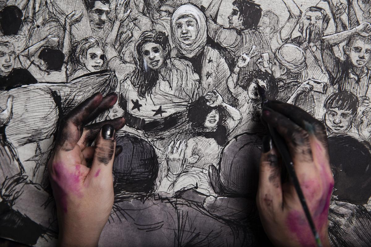 The Mantle Image Marwan Hisham Molly Crabapple